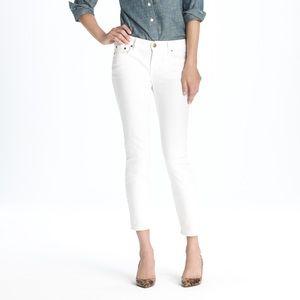 J Crew White Ankle Jean